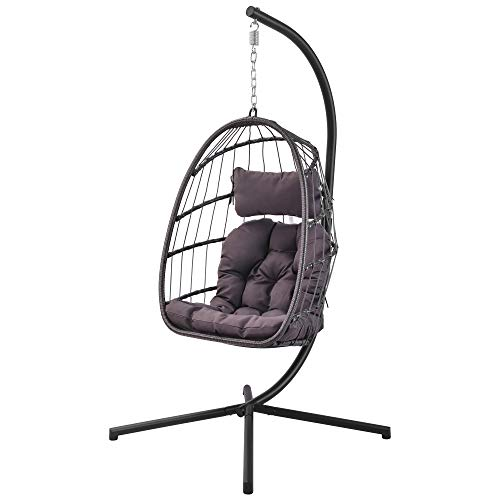 Patio Hanging Egg Chair With Stand Swing Buy Online In Kuwait At Desertcart