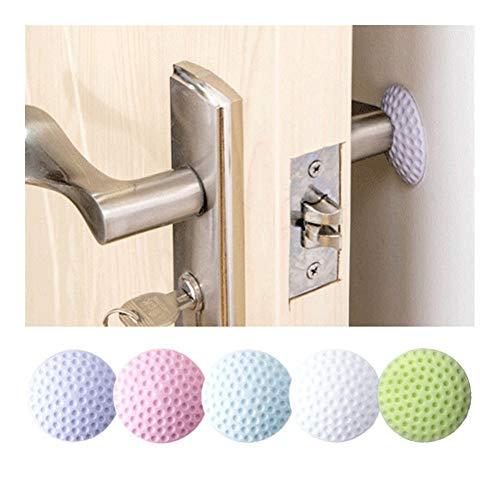 NOLOGO YSSP Weicher Dämpfer zum Schutz der Wand selbstklebende Aufkleber Türstopper Golf Stil Gummi Pad Türfender Haushaltsprodukt rose