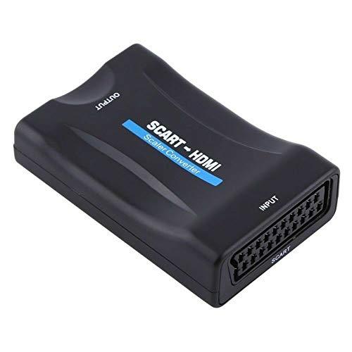 N / E SCART a HDMI convertidor de señal de audio de vídeo adaptador 1080P HDMI convertidor compatible con salida NTSC PAL para HD TV DVD
