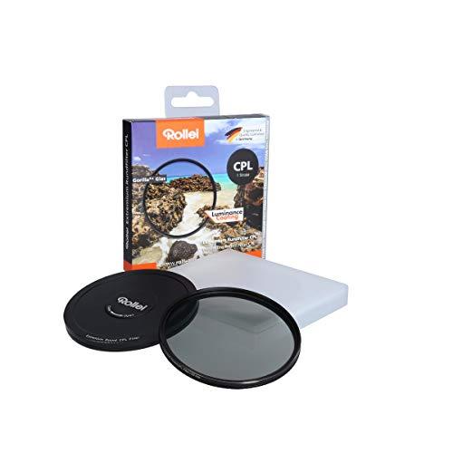 Rollei Extremium Round Filter CPL 58 mm (1 Stop) - Filtro polarizador con anillo de titanio de vidrio Gorilla con recubrimiento especial - Tamaño: 58 mm