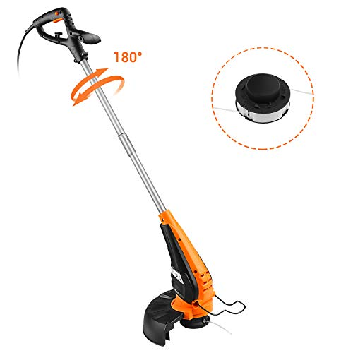 TACKLIFE Electric Grass Trimmer, 350W Strimmer with 25cm Cutting Width, 180°...