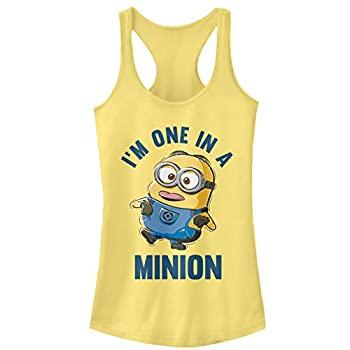 Junior s Despicable Me I m One in Minion Racerback Tank Top - Banana - Large