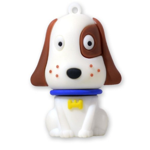 818-Shop No31400050064 USB-Sticks (64 GB) Hund Haustier 3D weiß