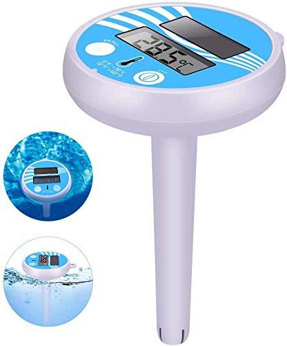 Termómetro Digital para Piscinas Termómetro Flotante De Energía Solar Medidor De Temperatura De Agua Flotante Preciso para SPA De Piscina