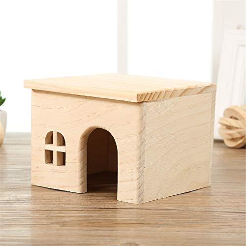 Cabaña para Animales Pequeños Madera Hamster casa del animal doméstico de Pequeños Animales Escondite del hámster Casa Juego Juguetes for el erizo rata del ratón Jerbo para Ratones Hamsters Gerbil Hom