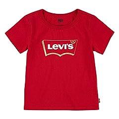 Levi's Batwing T-Shirt Camiseta para Niñas, Gris Snoopy