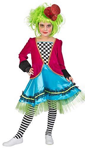Funny Fashion Verrückter Hutmacher Kostüm für Mädchen - Gr. 152