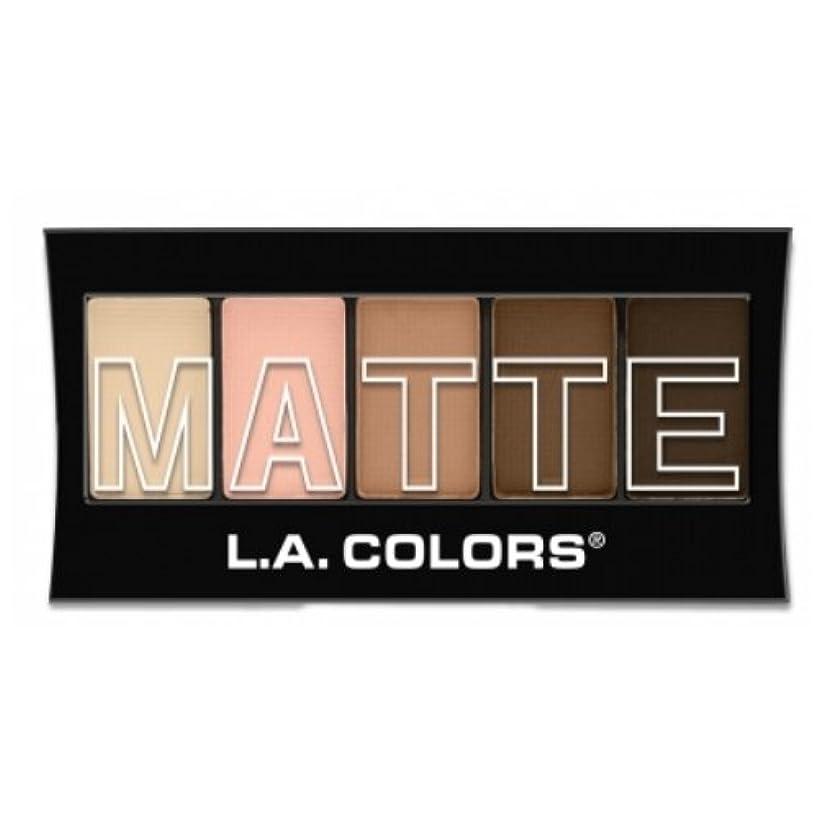 グレートオーク下線妻(3 Pack) L.A. Colors Matte Eyeshadow - Tan Khaki (並行輸入品)