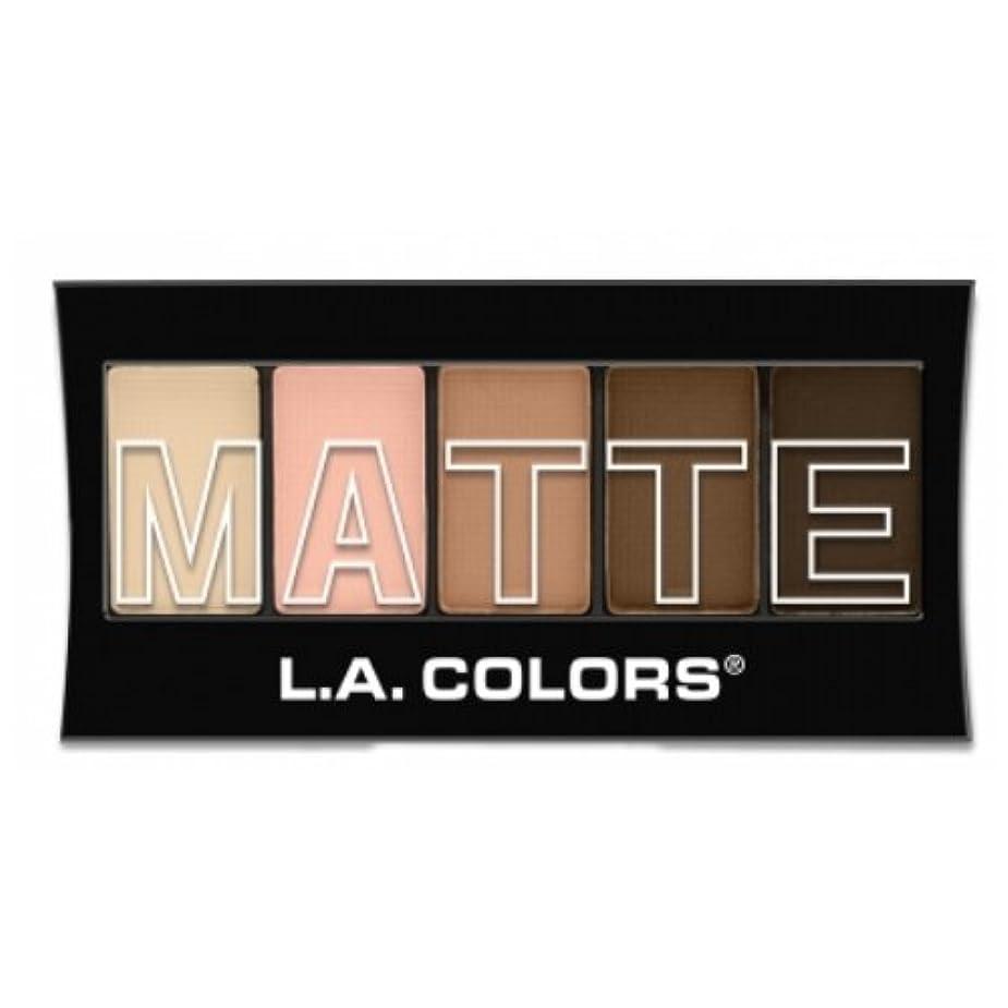 スパイ堀恋人(3 Pack) L.A. Colors Matte Eyeshadow - Tan Khaki (並行輸入品)