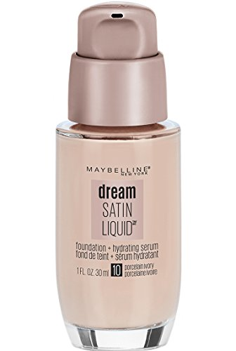 Price comparison product image Maybelline New York Dream Satin Liquid Foundation (Dream Liquid Mousse Foundation),  Porcelain Ivory,  1 fl. oz.