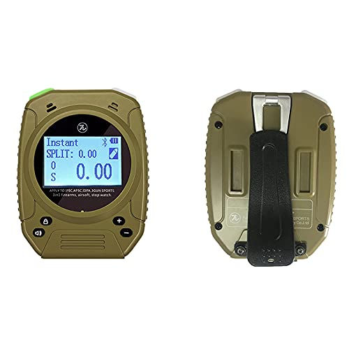 Shot Timer - Shooting Timer for Firearms Perfect for Pistols Rifle Dry Fire in USPSA, IPSC, APSC, IDPA, 3 Gun, Steel Challenge (Shot Timer Gray with Belt Clip)