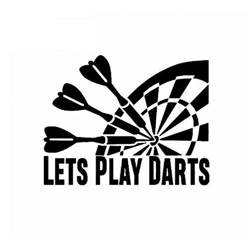 CTMNB Autosticker Interessante Car-styling Lets Play Darts Auto Sticker Decal Vinyl Decoratie