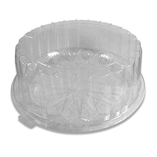 PZ 15 Assiette plate 22 cm + couvercle transparent (haut cm 8) Idéal pour gâteaux gâteaux et aliments à emporter