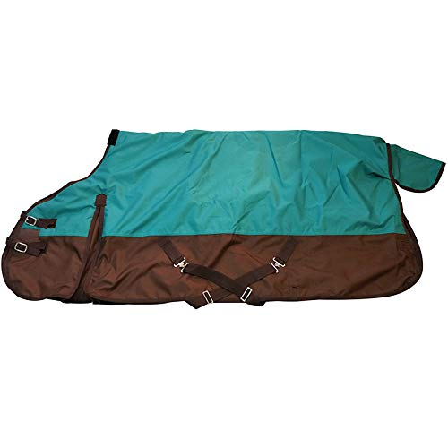 TGW RIDING Comfitec Essential Standard Neck Lite Horse Turnout Sheet 1200D Waterproof and Breathable Horse Rain Sheet (82', Teal)