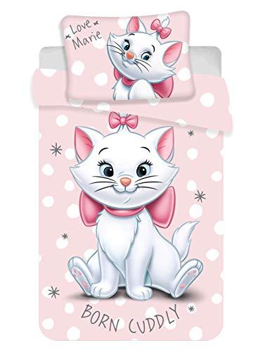 Juego de ropa de cama para bebé de 2 piezas, 100% algodón, funda nórdica de 100 x 135 cm y funda de almohada de 40 x 60 cm