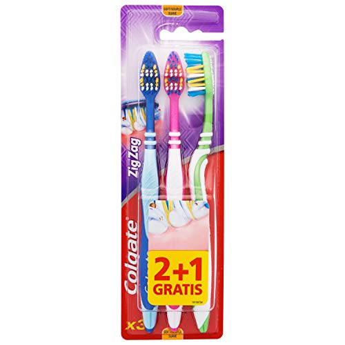 Tandenborstel Colgate – Zig Zag zacht, 3 stuks