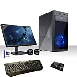 PC DESKTOP CASC02 LED BLU INTEL QUAD CORE CON WINDOWS 10 PROFESSIONAL 64 BIT/WIFI/HD 1TB...