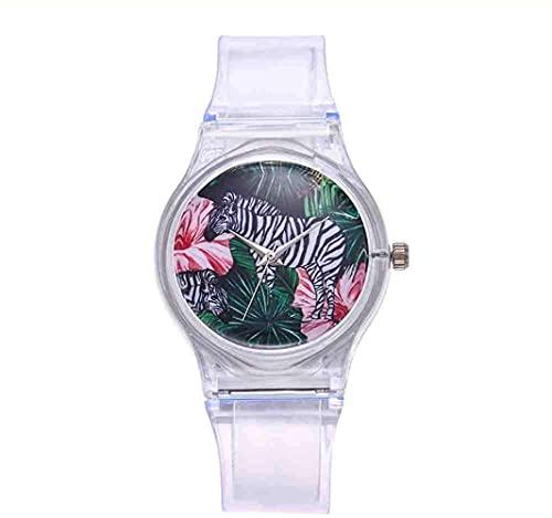 Mano Reloj Reloj reloj reloj transparente reloj de silicona relojes mujer deporte de cuarzo relojes de pulsera novedad Crystal Ladies Watch Dibujos animados Reloj Mujer Relojes Decorativos Casuales
