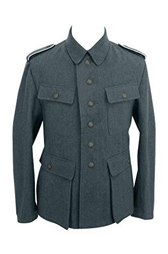 militaryharbor WW2 WWII German M43 Heer EM Italienische Feldbluse blau grün grau - - 62 DE/Regulär/3XS
