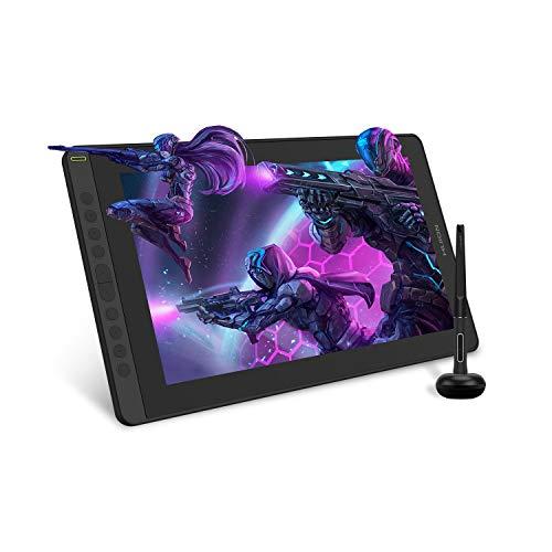 HUION Kamvas 16 Tableta Grafica con Pantalla, Pantalla de 15.6 Pulgadas de lámina Completa, 10 Teclas de Prensa Programables, Soporta la conectividad con el Dispositivo Android