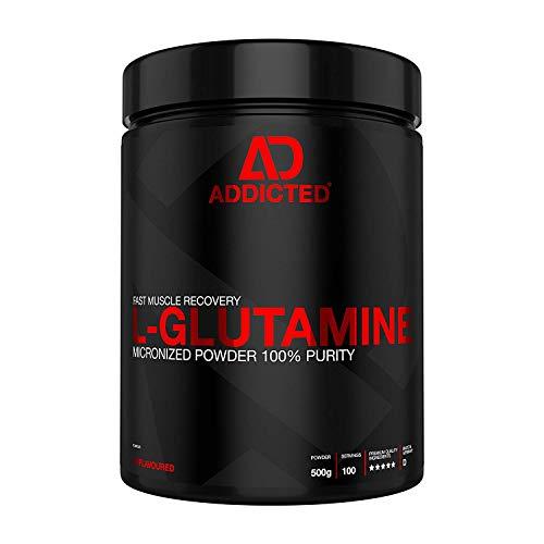 L-GLUTAMINE von ADDICTED® - pures L-Glutamin Pulver - ohne Geschmack - wichtige Aminosäure für Fitness, Kraftsport und Bodybuilding
