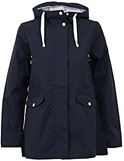 JUSTYOUROUTFIT Women Rain Mac Two Tone Cagoule Hooded Jacket