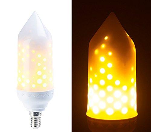 Luminea Flammenlampe: LED-Flammen-Lampe mit realistischem Flackern, E14, 5 W, 304 Lumen, A+ (Flackerlampe)