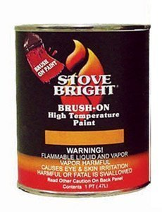 SANDHILL Stove Bright Satin Black Brush - On 1200 Degree Paint - Pint