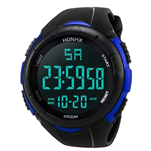 YGMOTO SVA AYSMG Sport Watch Uomo analogico Digitale Militare in Silicone Esercito Sport LED Orologi Orologi da Uomo (Color : Blue)