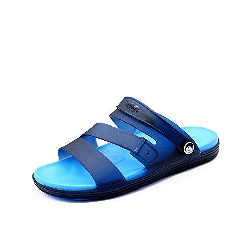 Best-choise Sandalias de Playa de Verano para Hombre Slip on Style Goma extraíble Correa de Tobillo Zapatos Abiertos para los pies Durevole (Color : Azul, tamaño : 44 EU)