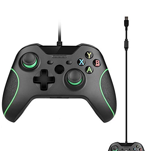 obqo Kabelgebundener Controller für Xbox One, USB Gamepad Joypad Controller mit Dual-Vibration für Xbox One/S/X/PC mit Windows 7/8/10