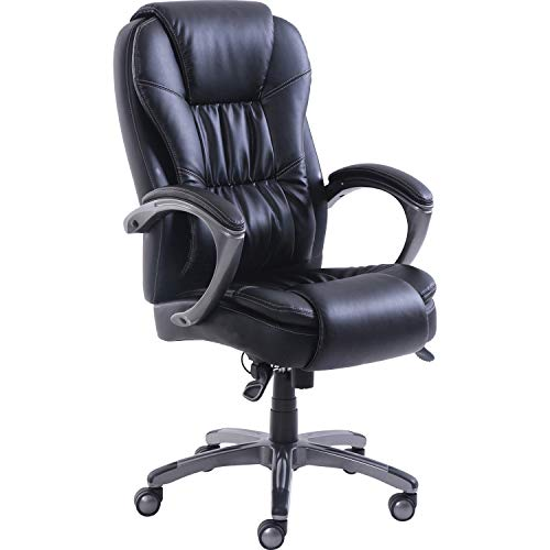 Lorell Active Massage Leather High-Back Chair Stuhl, Leder, schwarz