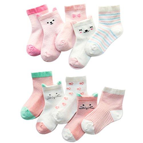 Z-Chen Calcetines de Verano para bebé niño niña (Pack de 10), 1-3 años, Set 2