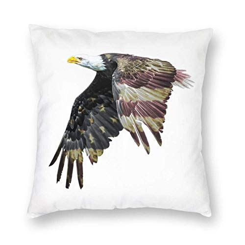 BK Creativity Pillowcase,American Flag Patriotic Bald Eagle Usa Cushion Cover,Decorative Pillowcases For Outdoor Indoor Decoration,45CM*45CM
