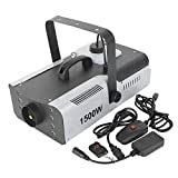 TC-Home Fog Machine with Light 8 LED 2L 1500w Stage Smoke Machine Portable with remote
