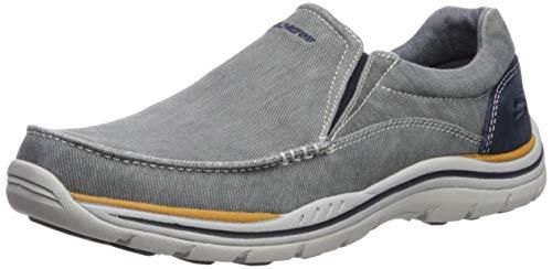 Skechers mens Expected- Avillo Moccasin, Blue, 10.5 US