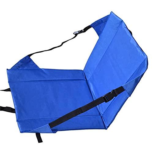 41 x 41 x 4 cm, portátil, plegable, para pícnic, camping, playa, jardín, silla de jardín, silla de jardín, asiento de estadio, cojín suave (color rojo) WDH666 (color: azul)