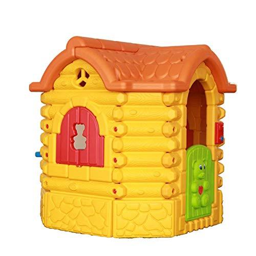 TWW Kinderspielhaus Inkl. Garden Cottage Indoor-Spielhaus Kunststoff, Kunststoffhaus Für Drinnen Und Draußen