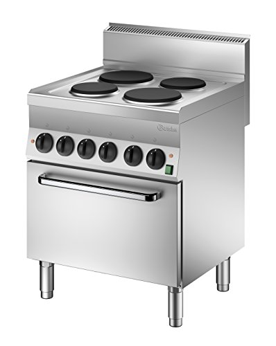 Bartscher 115058 Autonome Acier inoxydable four et cuisinière - Fours et cuisinières (Cuisinière, Acier inoxydable, 12400 W, 700 mm, 650 mm, 870 mm)