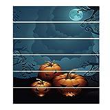 LQH 6pcs / Set de Halloween de la Luna de la Escalera Principal de la Calabaza Pegatina extraíble Etiqueta de la Escalera