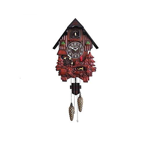 Home Mode Eine Schöne Brünette Große Wanduhr Coucou aus Holz von Hand in Rotation Hergestellt und Spirituosen Dekoration Dekorative Puppen Wanddekoration Uhr, Z-B