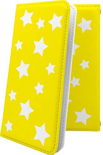 スマートフォンケース・ZenFone5Q ZC600KL・互換 ケース 手帳型 黄色 きいろ イエロー 星 星柄 星空 宇宙 夜空 星型 ゼンフォン5q ゼンフォン5 手帳型スマートフォンケース・おしゃれ zenfone 5q 5 q かっこいい [2Ry25375kDs]