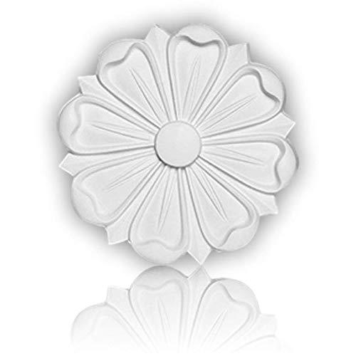 Mardom Decor - Decken Wand Rosette | B3021 | Stuckrosette | Ø 16 cm | Zierelemente