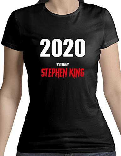 | Camiseta Mujer 2020 Stephen King | Camiseta Algodón Mujer | Diseños Exclusivos | Color Negro | Talla L