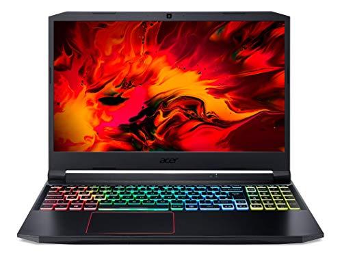 Acer Nitro 5 AN515-55-5041 Ordinateur Portable Gaming 15,6   FHD IPS 144 Hz, PC Portable Gamer (Intel Core I5-10300H, NVIDIA GeForce RTX 3060, RAM 8 Go, SSD 512 Go, Windows 10) - Clavier AZERTY, Noir