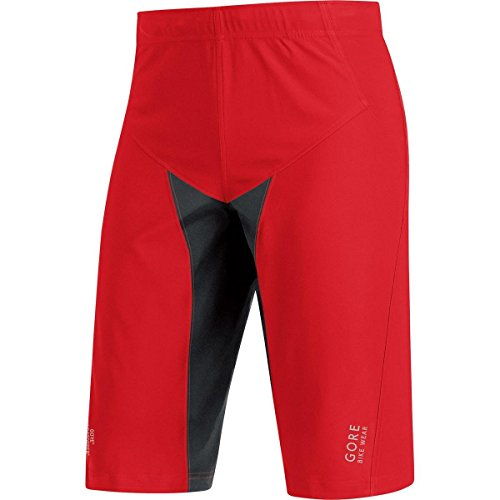 GORE WEAR Herren Hose und Shorts Kurze ALP-X pro WS SO Windstopper Soft Shell, Red/Black, M
