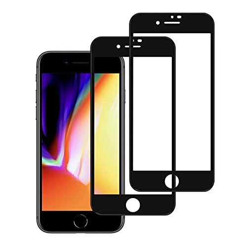 NIMASO ガラスフィルム iPhone 8 Plus / 7 Plus 5.5インチ 用 全面保護フィルム フルカバー 2枚セット NSP19A25
