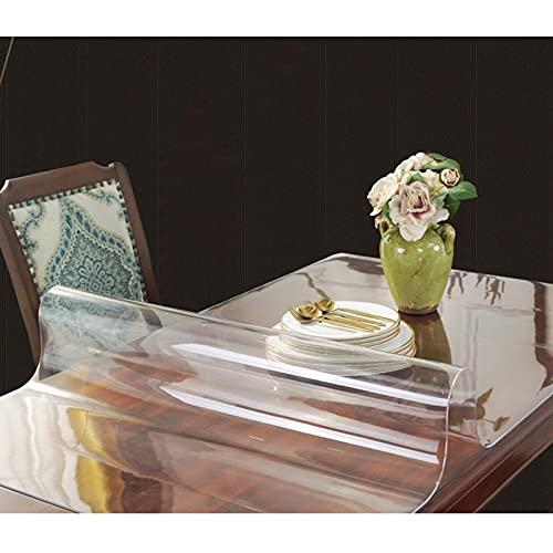 Cubierta De Mesa 1,5 Mm Espesor Impermeable,Mantel Transparente De Cristal,Estera De Escritorio De Vinilo,para Muebles,Exteriores,Fiesta,manteles Antiincrustante Limpiable,150x180cm/59 * 70.9in