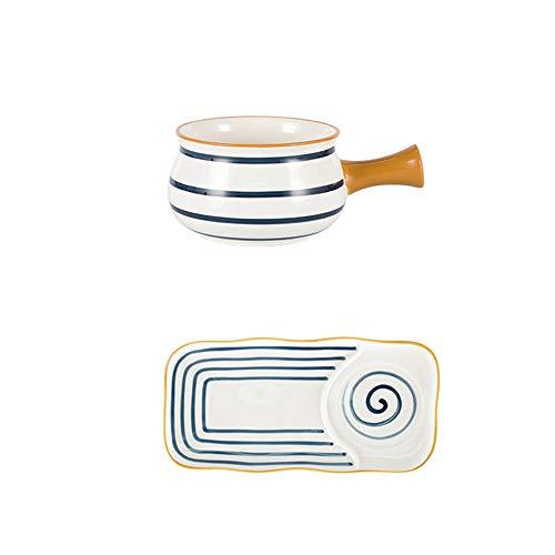 ZLSP Pintado a mano desayuno Vajilla linda creativa avena tazón de cereales Copa Placa de Tazones ZLSP