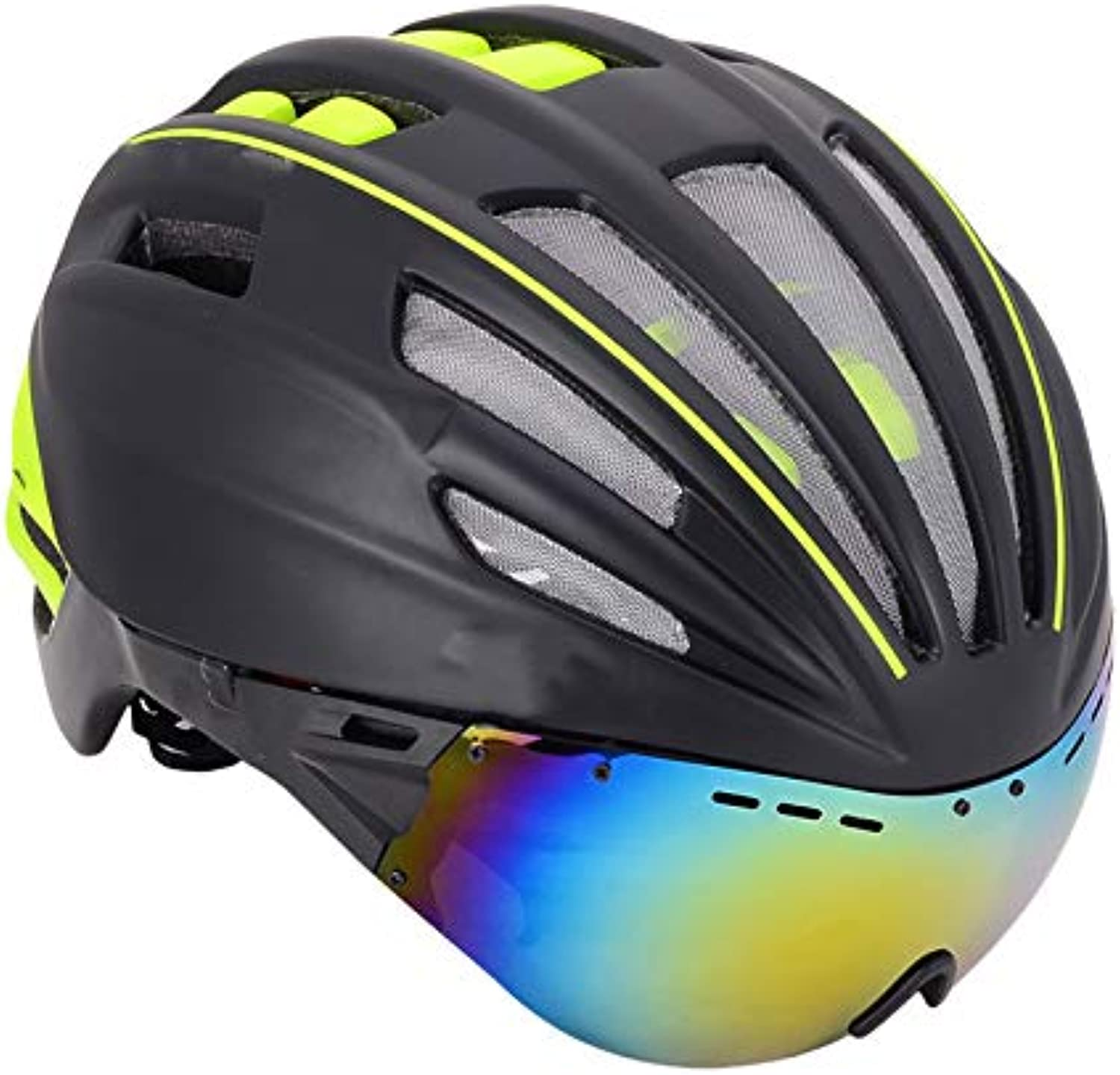 Helmet Goggles Integrated with A Men's Helmet Women's Bicycle Equipment Helmet